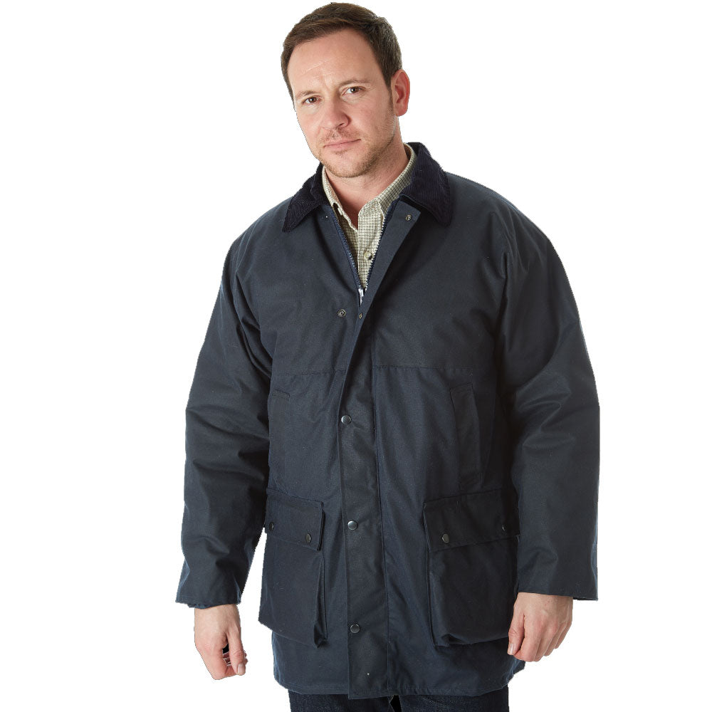 Navy Sherwood Forest Classic Padded Wax Jacket