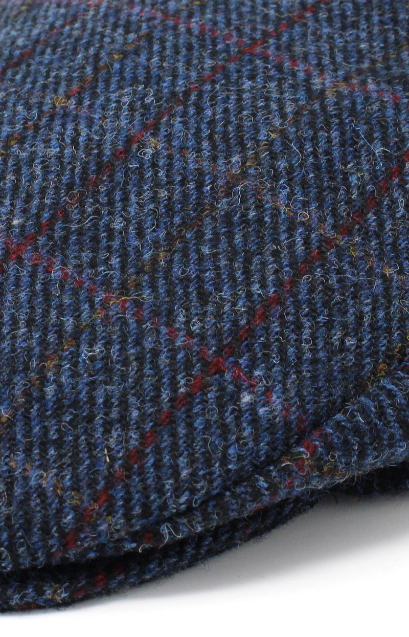 Colour; Navy tweed with check
