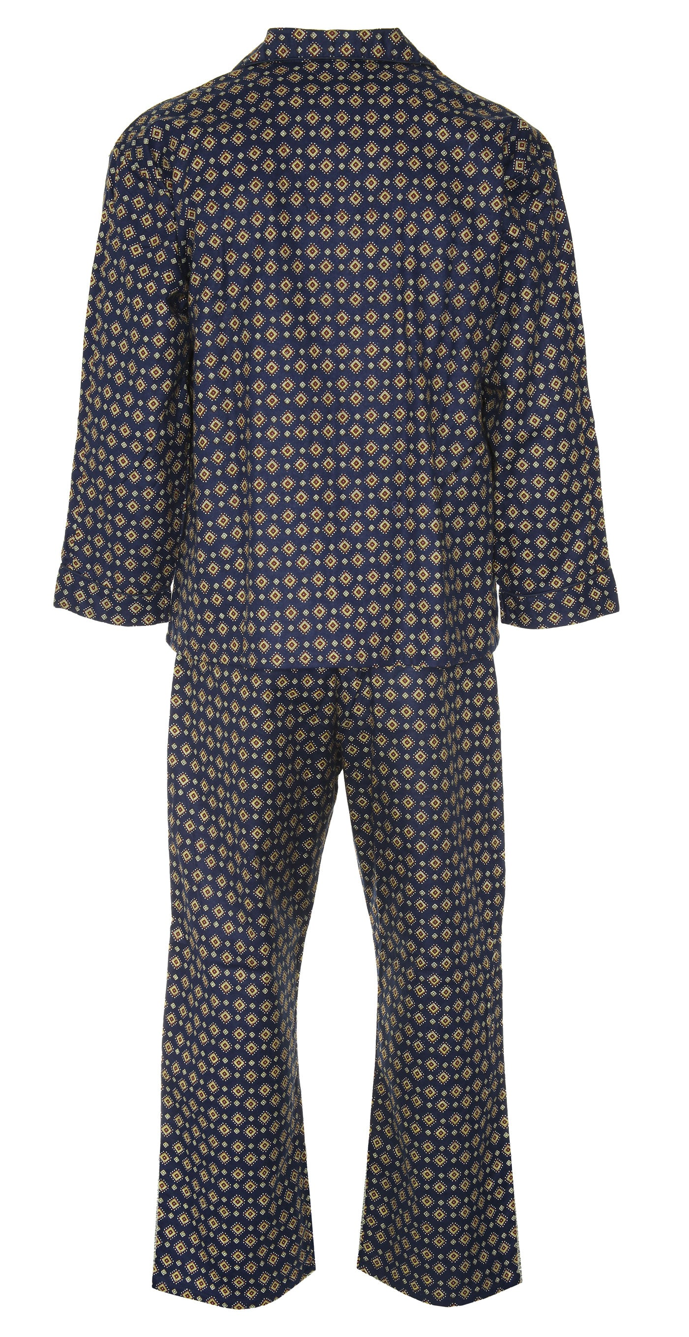 back view pair of pyjamas by champion blue sea pyjamas all pure cotton