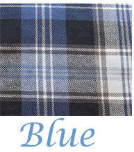 Blue tartan plaid for skye shirt