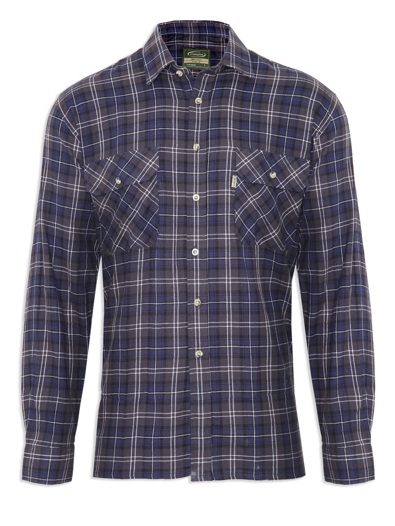 Tartan Lumberjack Shirt Kilbeggan by Champion in three traditional Tartans Colours, Blue Plaid