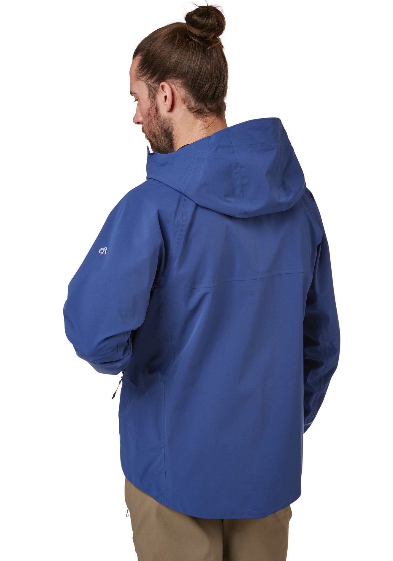Hood view Trelawney Waterproof Breathable Jacket by Craghoppers