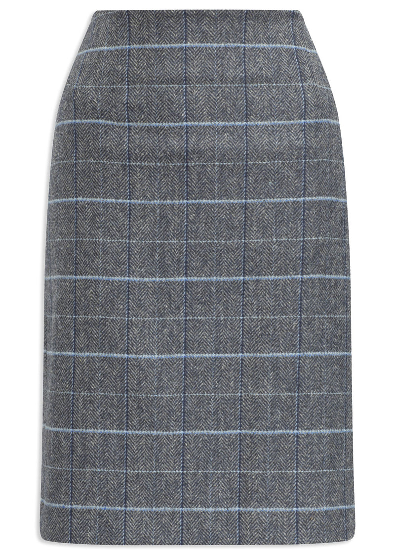 Alan Paine Surrey Knee Length Skirt | Lake Blue