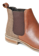 'Jenny' Leather/Herringbone Slip on Boot by Silver Street