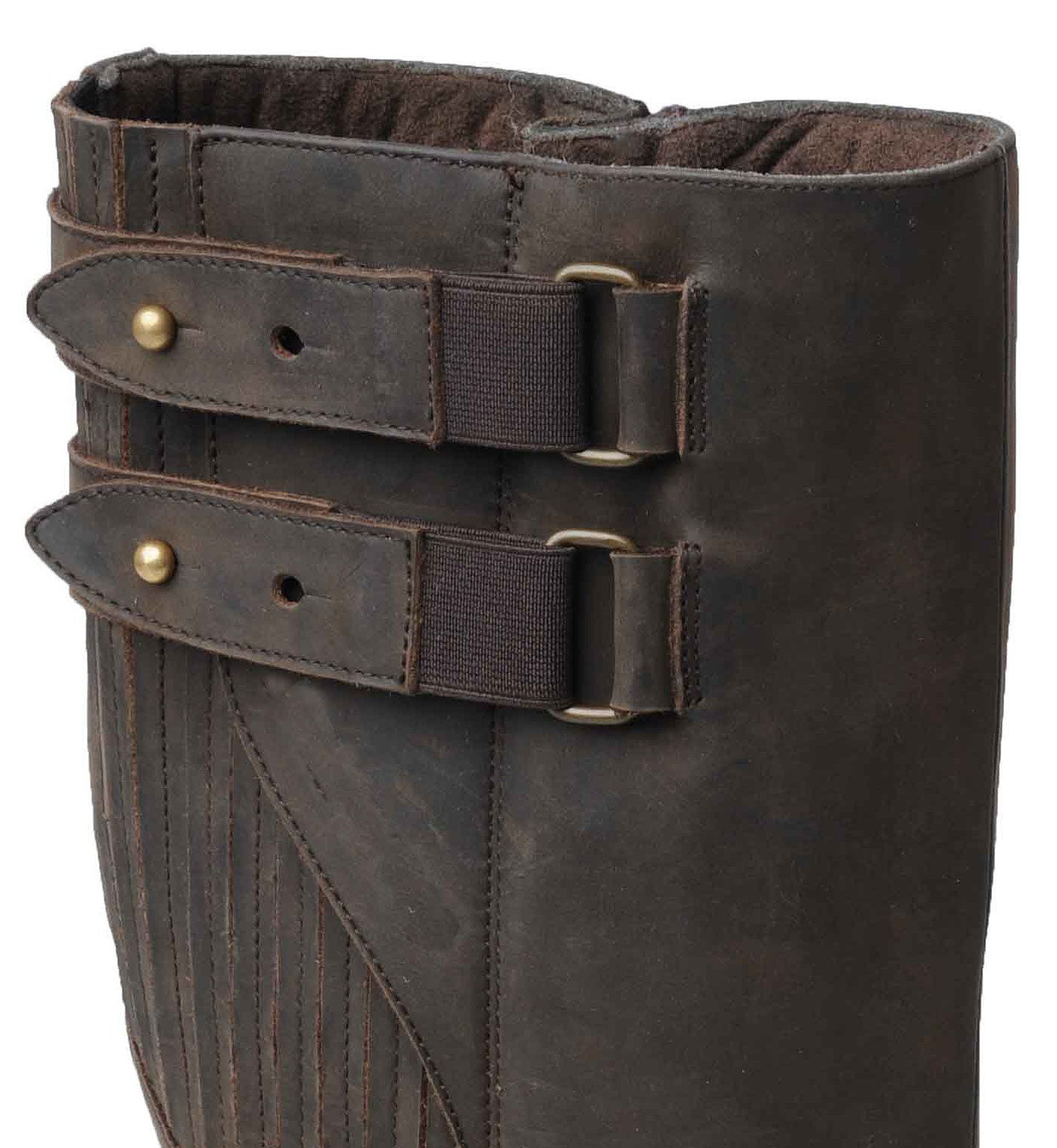 buckle detail Catesby Moreton Men's Waterproof Leather  Knee High Country Boots