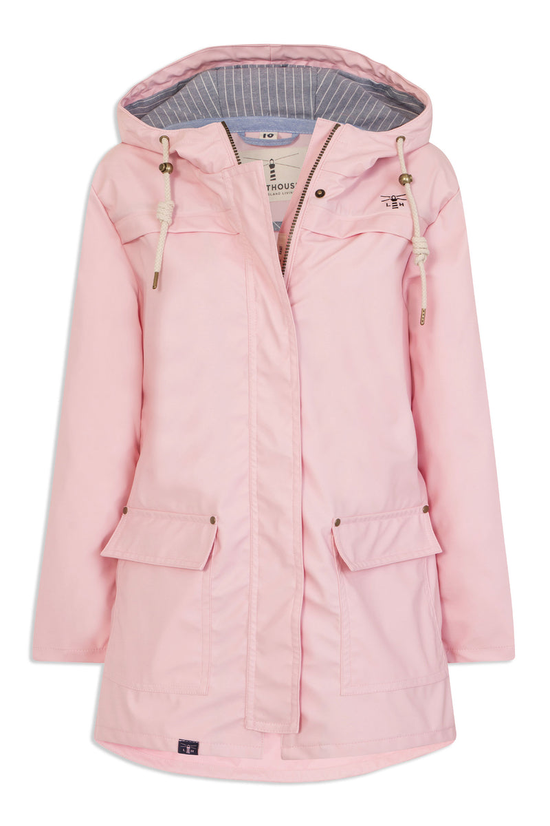 pink rose bowline waterproof shower coat from light house