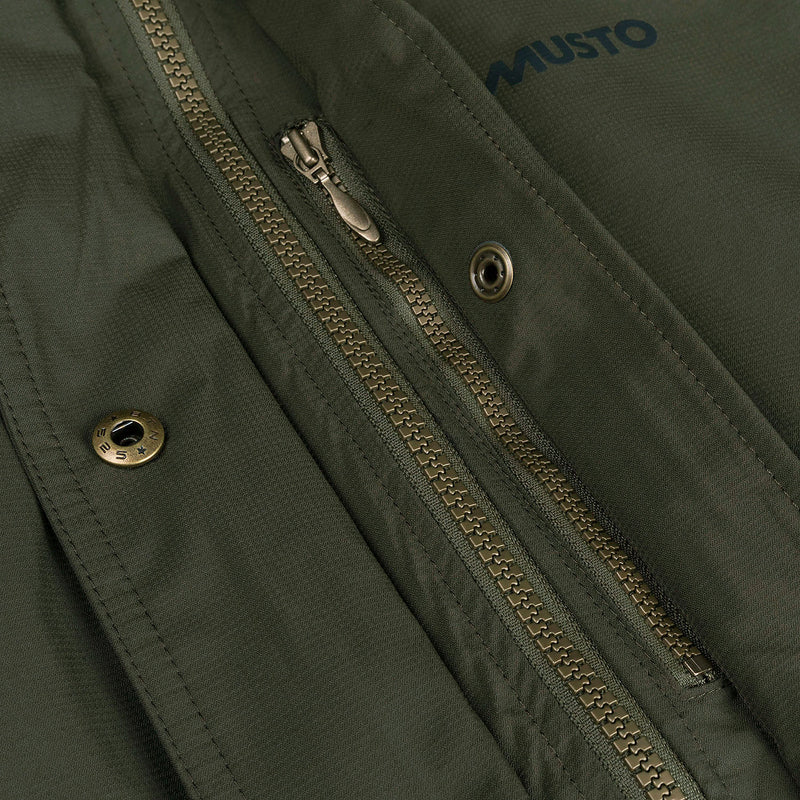 Zip  and zipped chest pocket detail