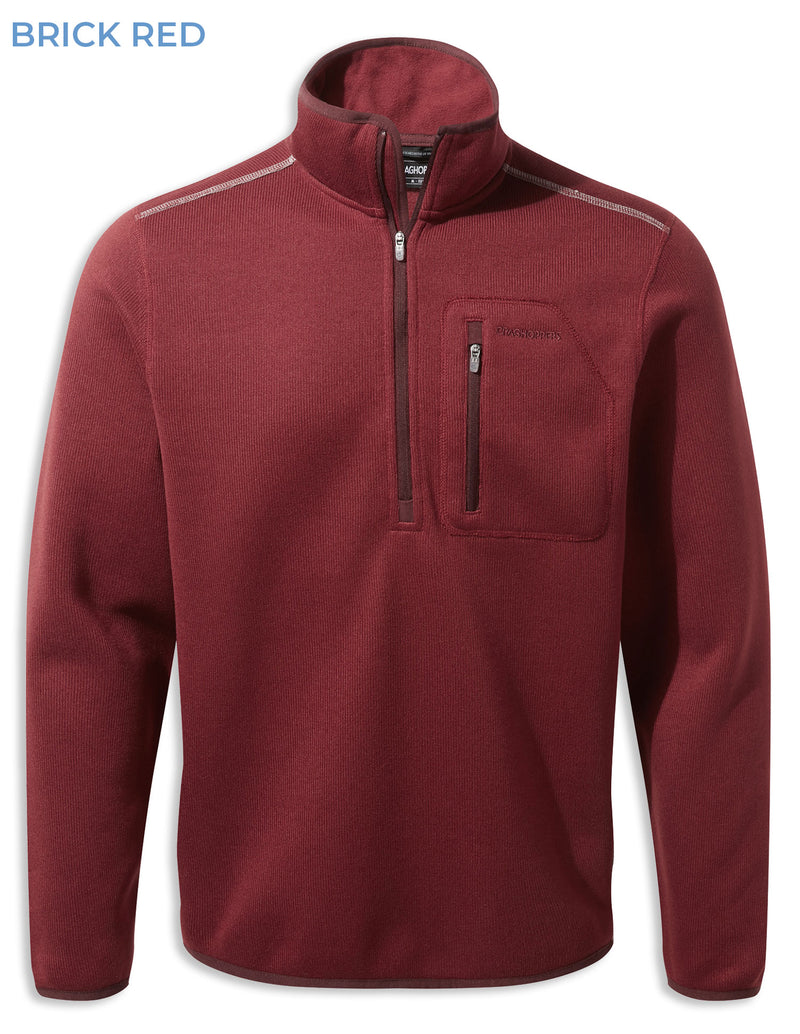 Brick Red Craghoppers Etna Half Zip Fleece