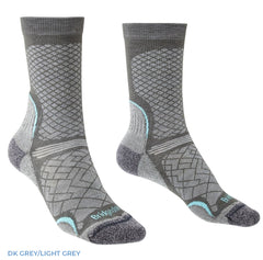 Ladies Hike Ultra Light Coolmax® Boot Sock by Bridgedale  Dark Grey