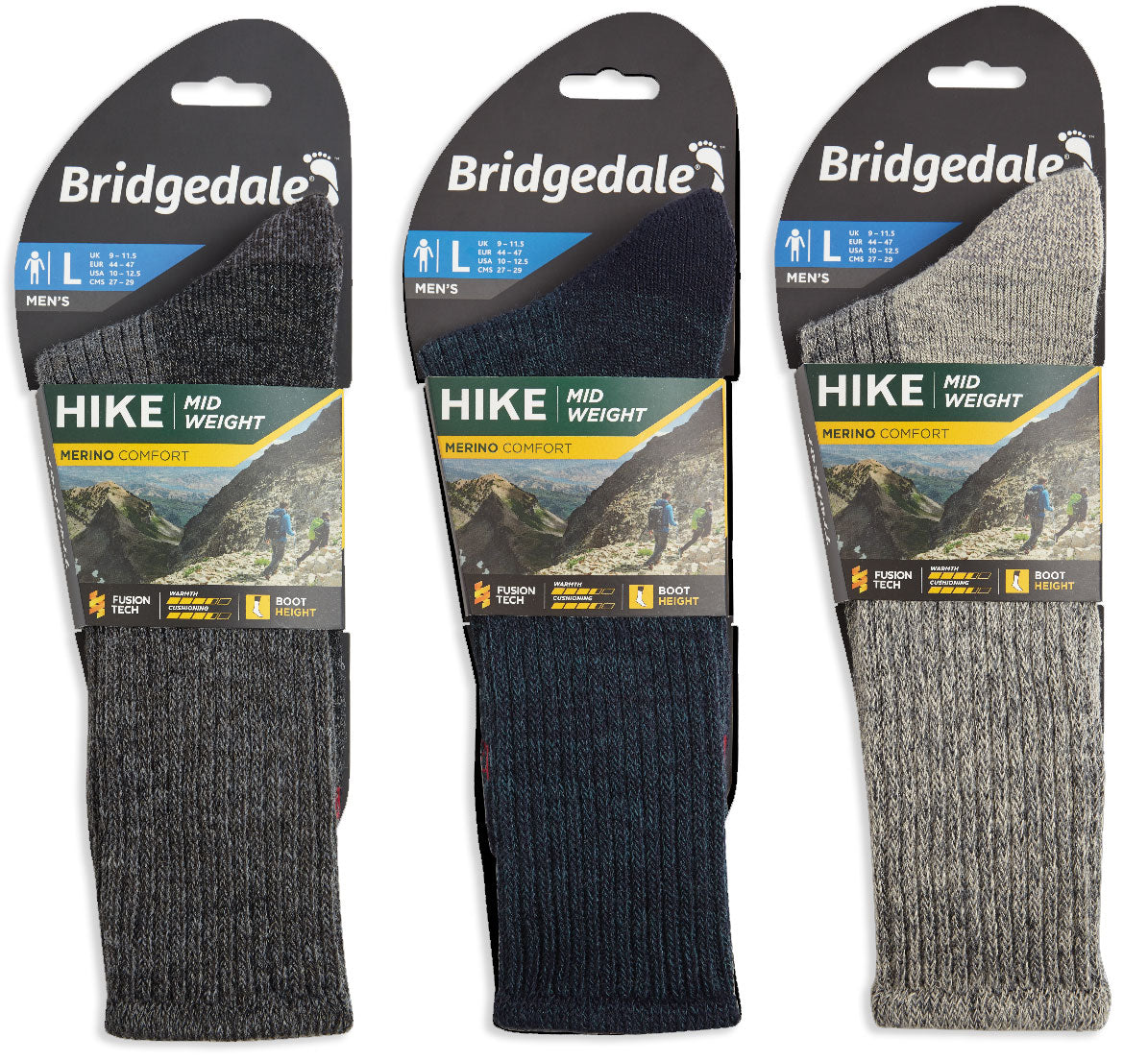 Packaging detail Bridgedale Hike Midweight Comfort Sock