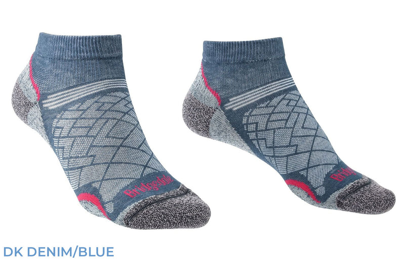 Denim Bridgedale Women's Hike Ultra Light T2 Low Sock