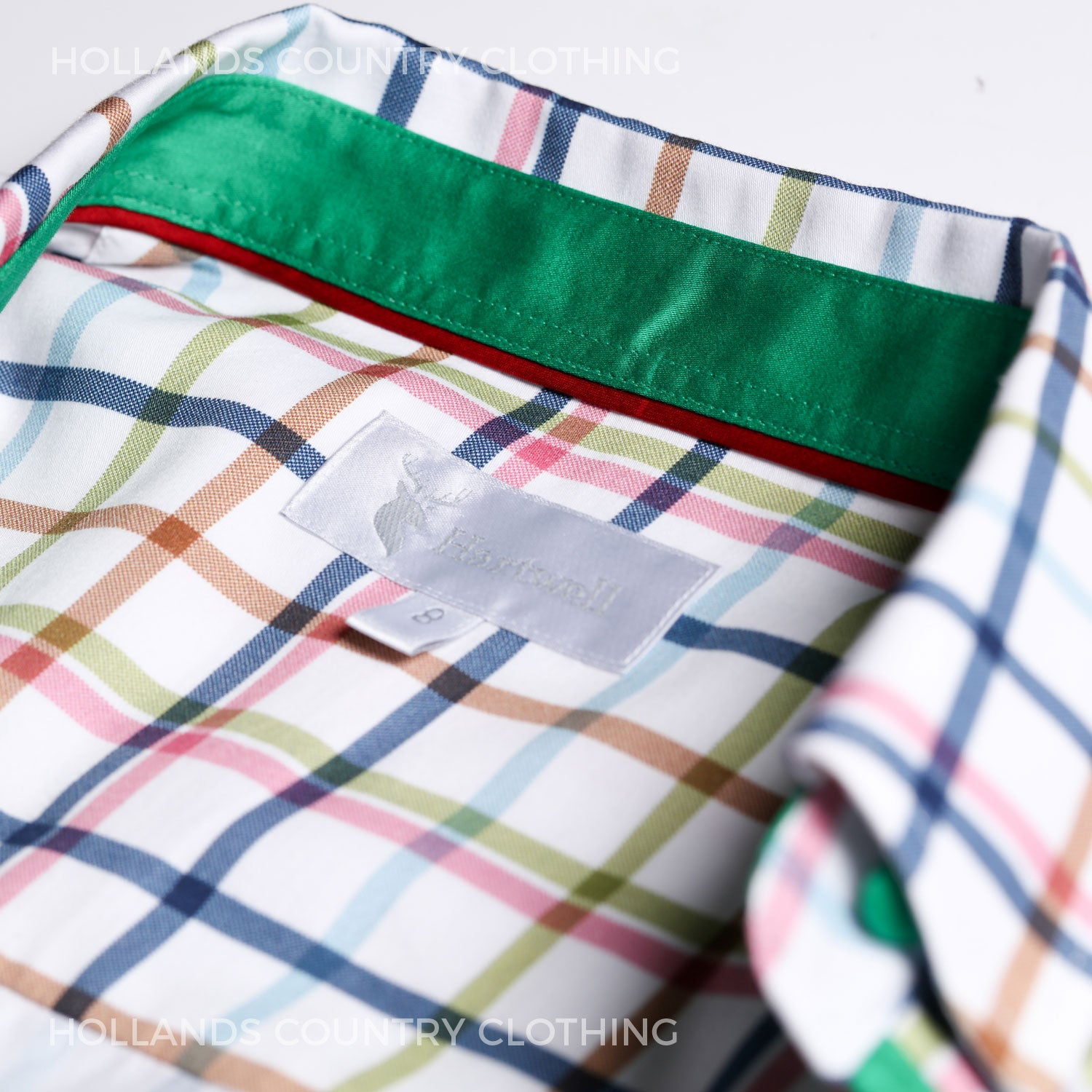 A luxurious colourful country tattersall check ladies shirt