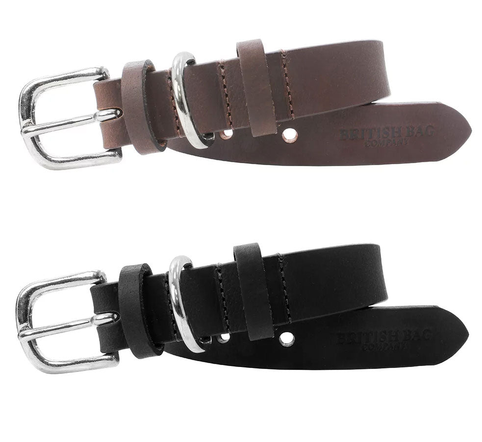 British Bag Co. Leather Dog Collar | Black, Brown
