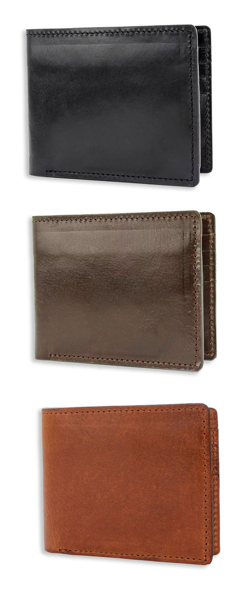 British Bag Co. Glossy Leather Wallet | Black, Brown, Tan