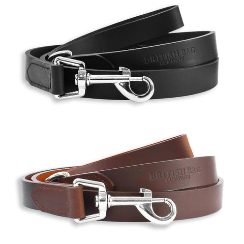 British Bag Company Leather Dog Lead | Black, Brown