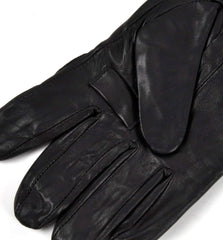 trigger finger detail for black leather shooting gloves