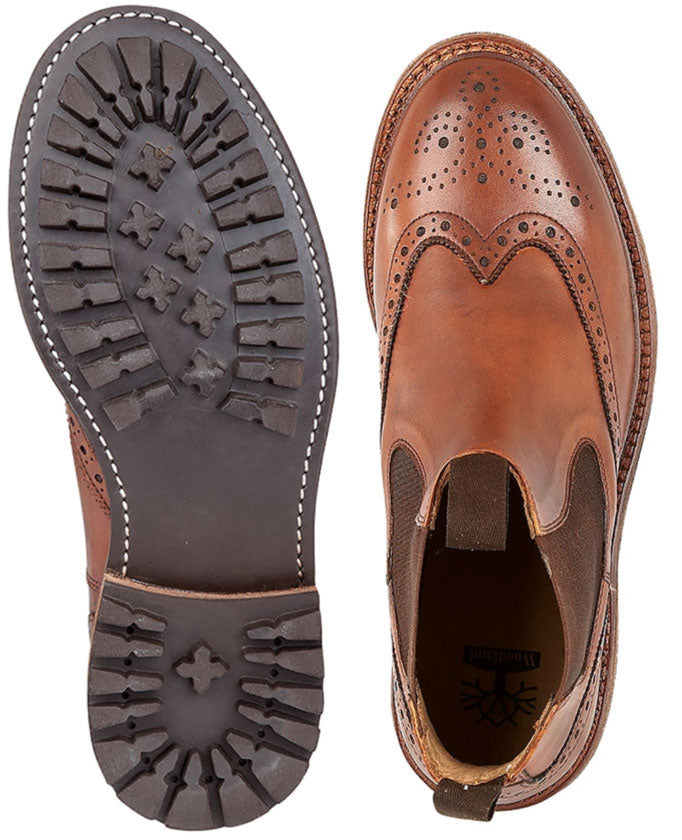 Upper view Woodland Brogue Dealer Boot Commando Sole