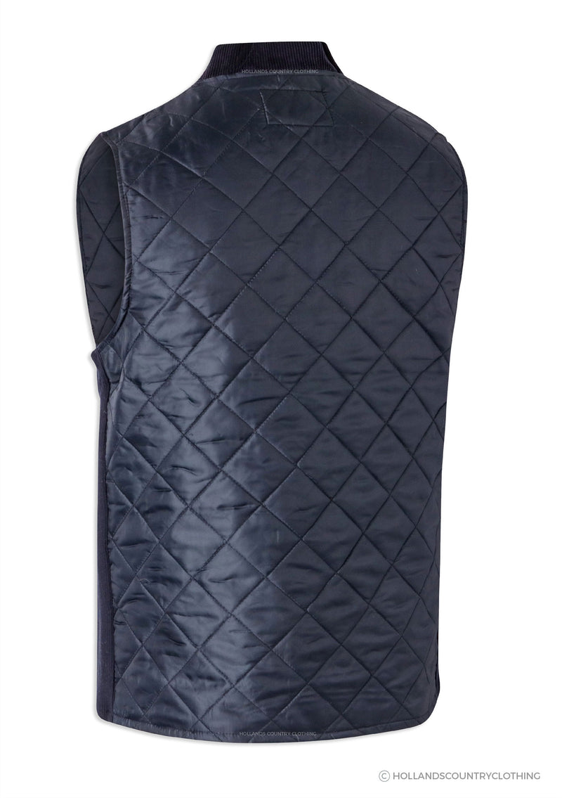 Navy Quilted bodywarmer Back View