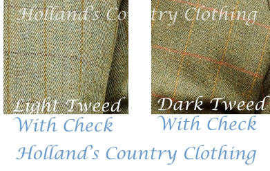 two tweed patterns from bronte country clothing