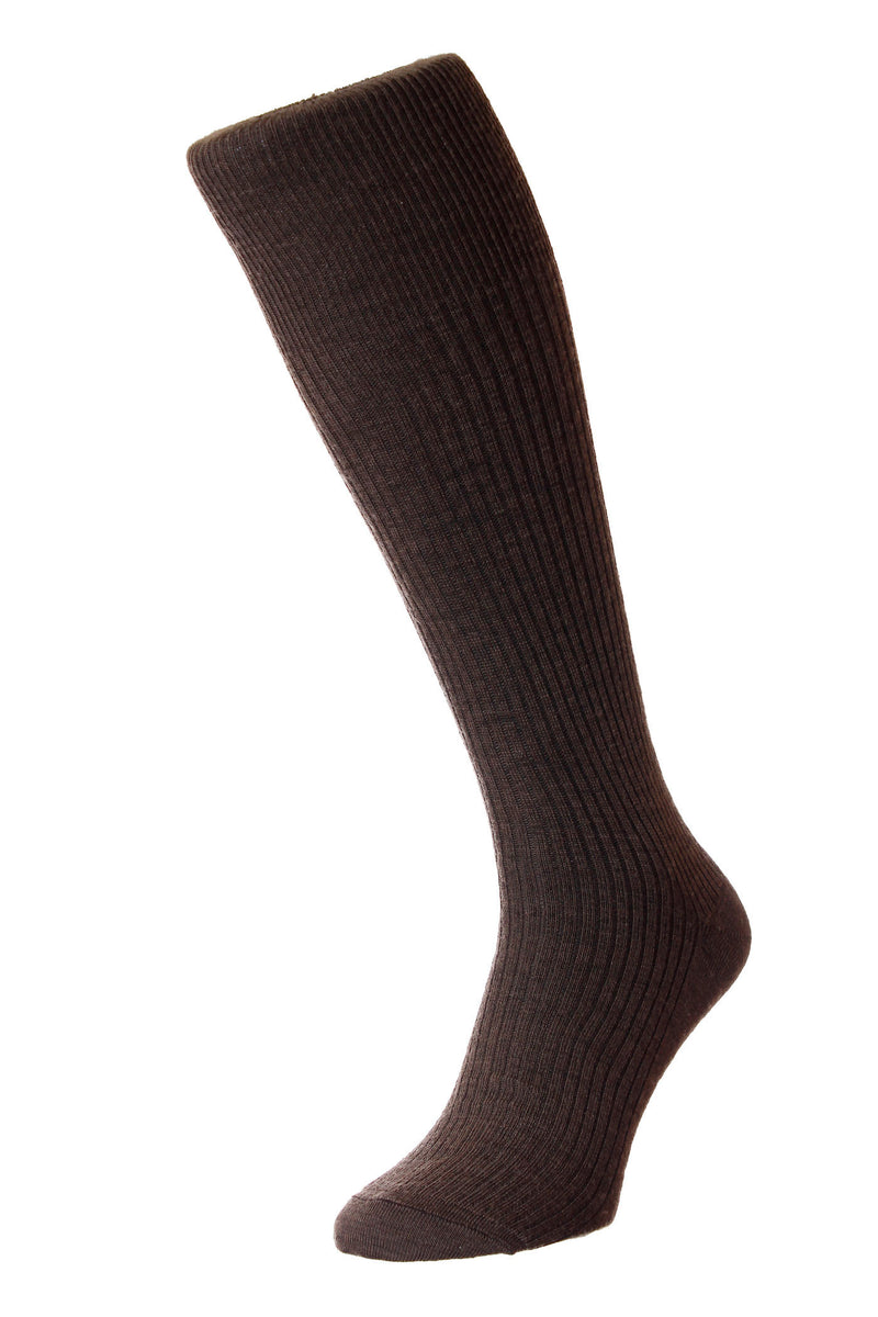 Dark Brown HJ Hall Immaculate Long Hose | Wool Rich