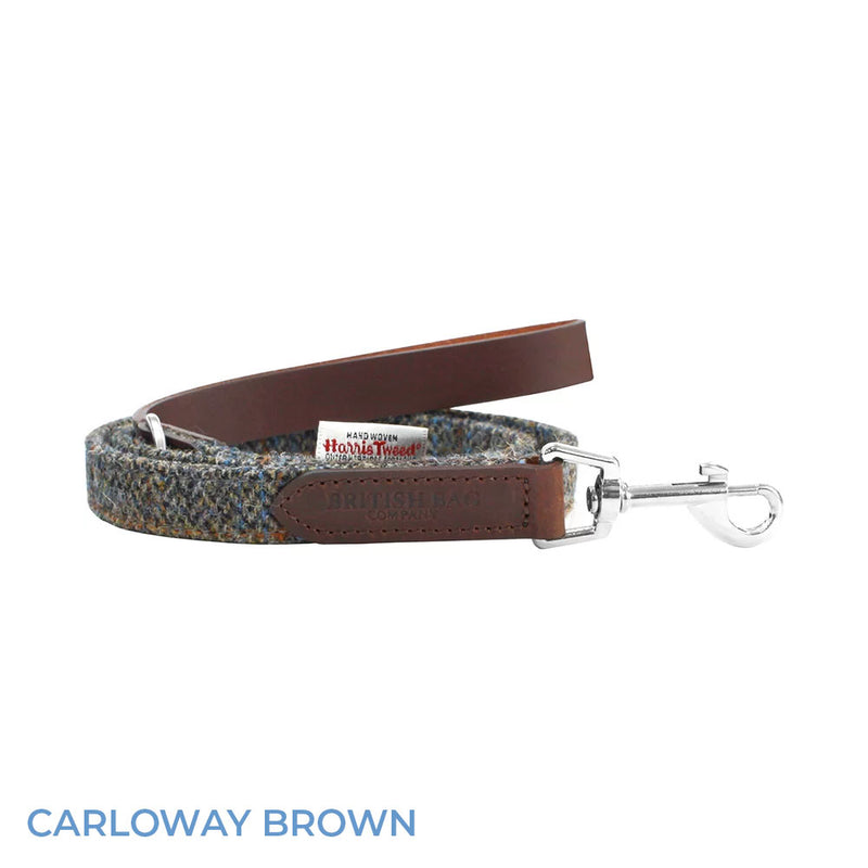 Carloway Brown British Bag Co. Harris Tweed Dog Lead