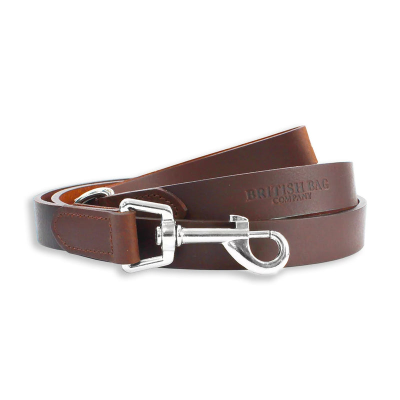 Brown British Bag Co. Leather Dog Lead