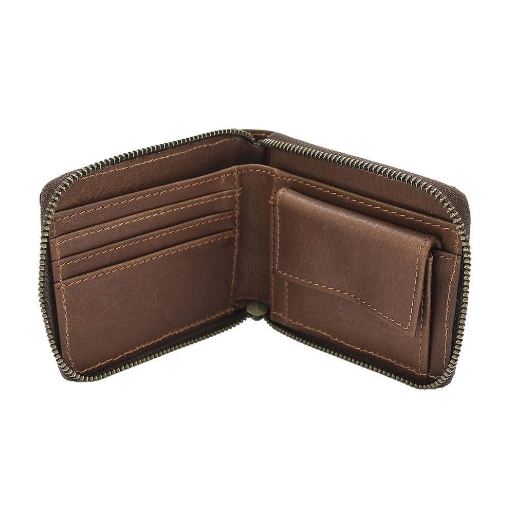 Brown Leather Wallet interior