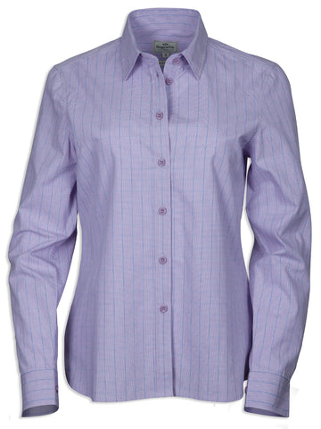 Hoggs of Fife Bryony Cotton Shirt ladies lavender purple