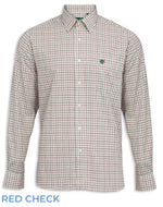 Red Green Tatteresall Check Alan Paine Aylesbury Check Shirt