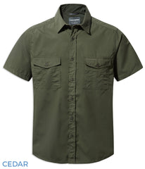 Craghoppers Kiwi Short Sleeved Shirt | Cedar Green