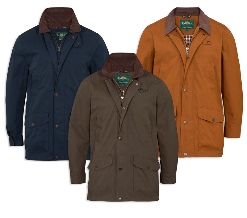 Alan Paine Chatbourne Waterproof Jacket | Tobacco, Navy, Olive