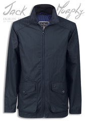 Jack Murphy Christian Waxed Cotton Jacket in navy