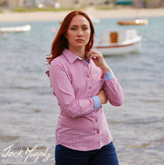 delightful, feminine shirt designed to coordinate with the Spring Summer range of Jack Murphy - Irresistible Irish Country Clothing