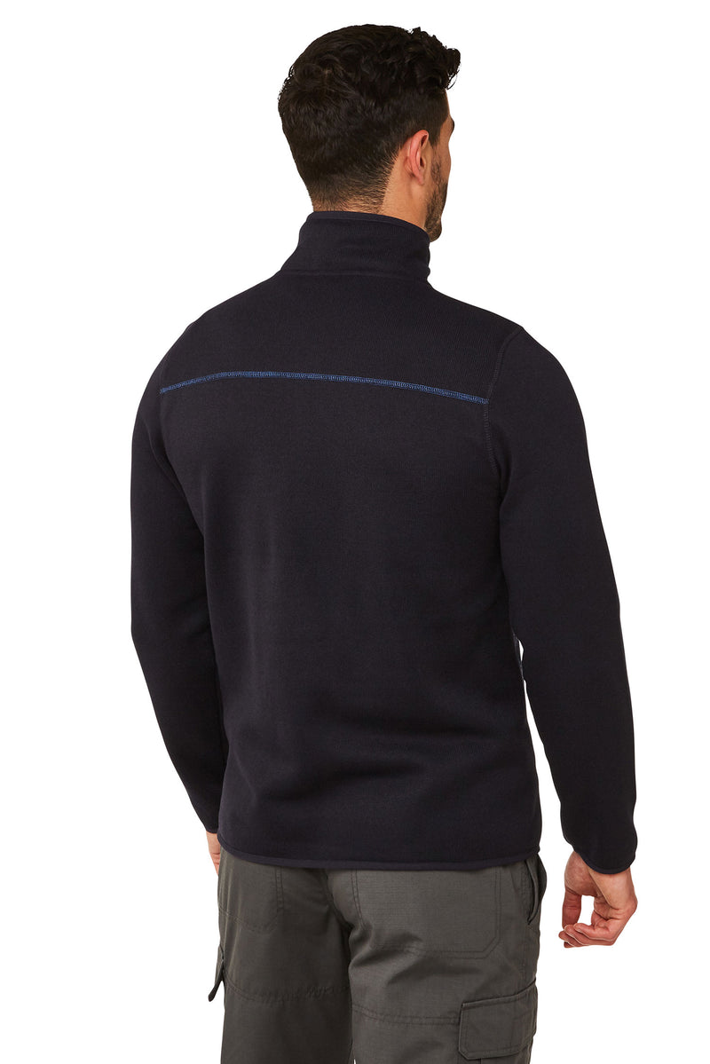 Etna Dark Navy Fleece Top