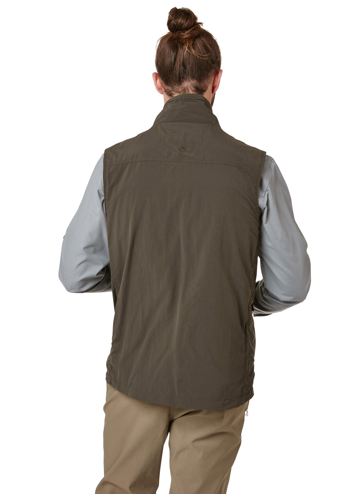 Back view Adventure II Multi-pocket Gilet by Craghoppers