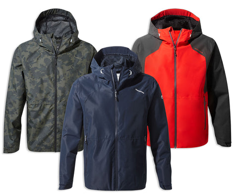 Craghoppers Balla Waterproof Jacket | Navy Blue, Camo, Aster Red