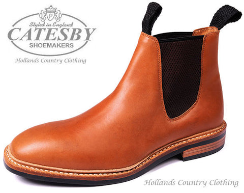 Catesby Seamless Upper Leather Dealer Boot Tan