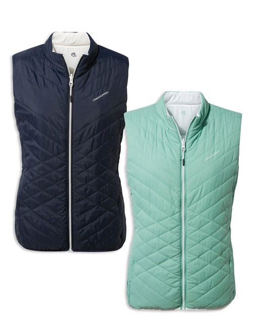 Craghoppers Ladies Compresslite Vest | Navy, Sea Breeze