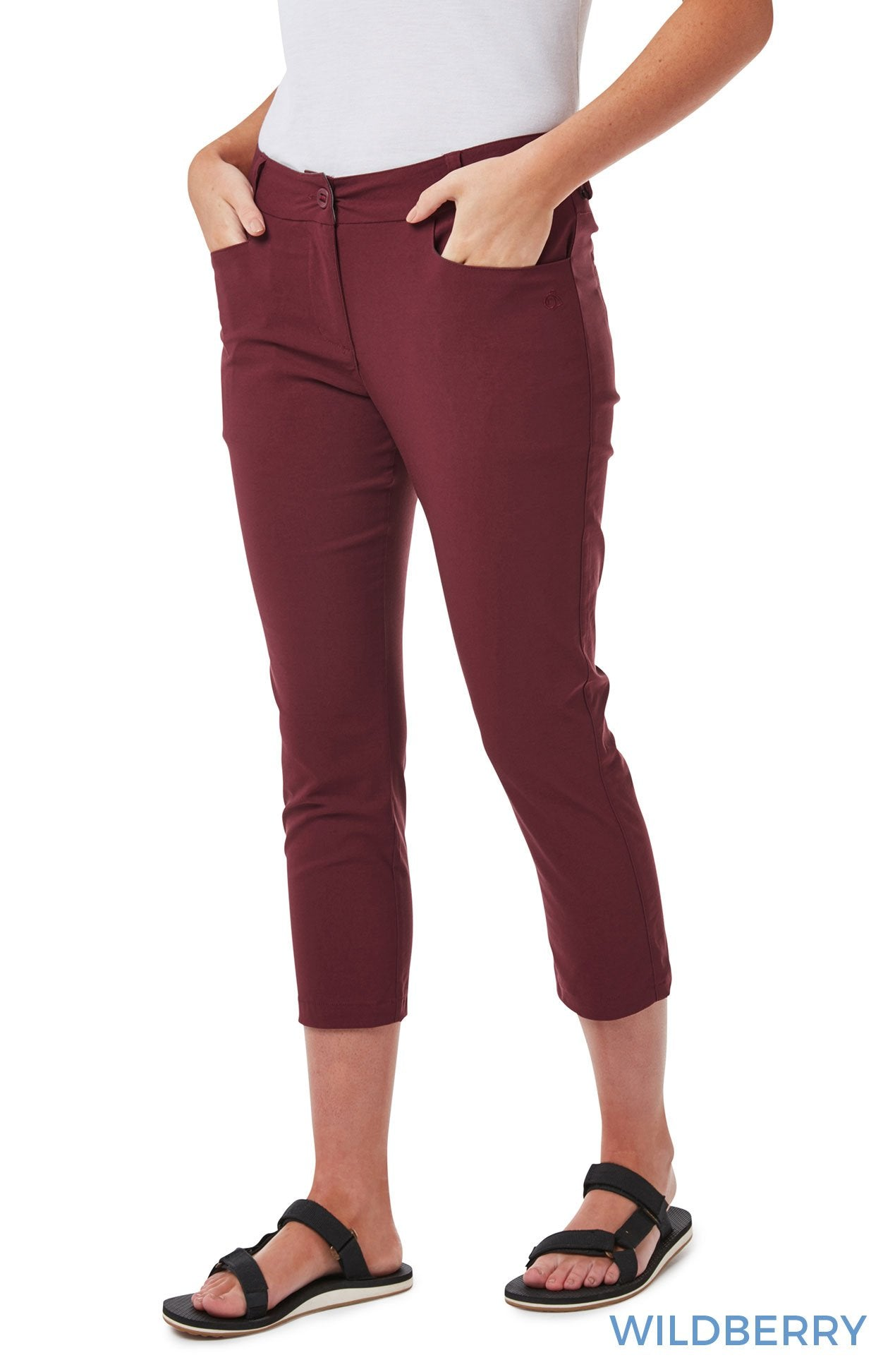 Wildberry Ladies Clara NosiLife Crop Pants by Craghoppers