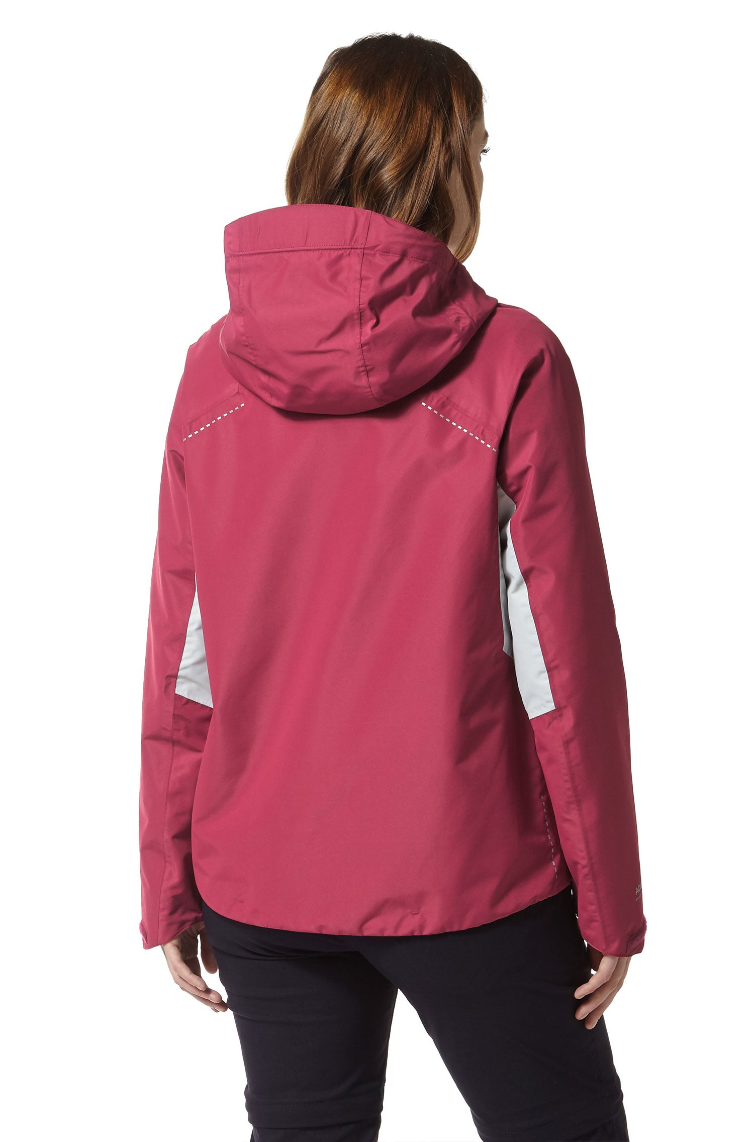 rear view hood down Horizon Waterproof Ladies Jacket by Craghoppers
