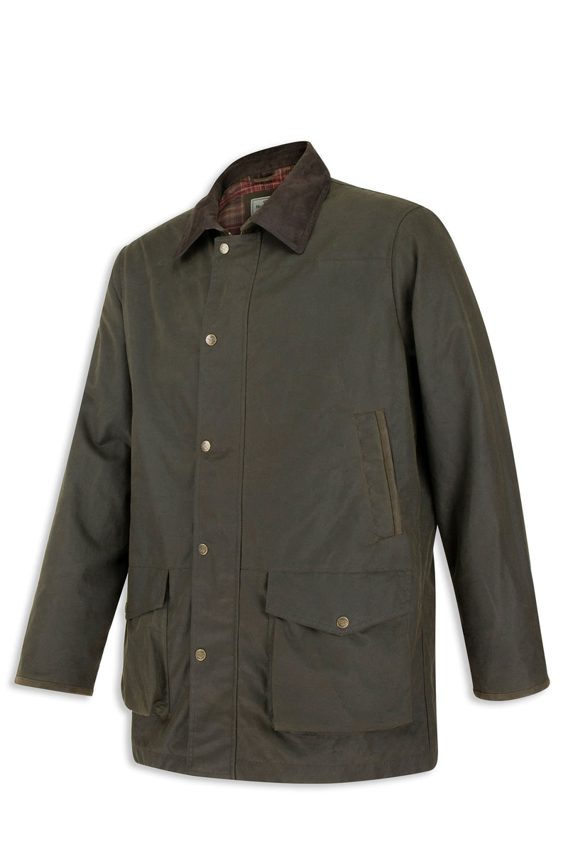 Hoggs of Fife Caledonia Waxed Jacket | Olive Green