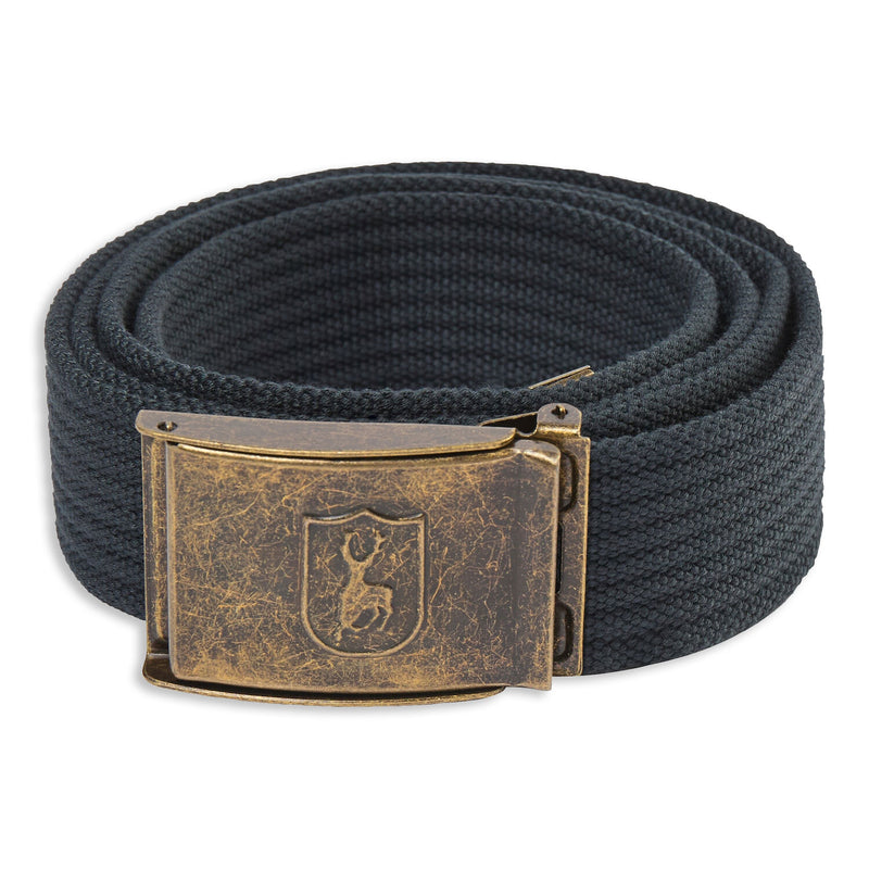 Dark Anthracite Deerhunter Canvas Deer Buckle Belt