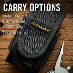 Carry options,  nylon sheath pcket clip lanyard ring