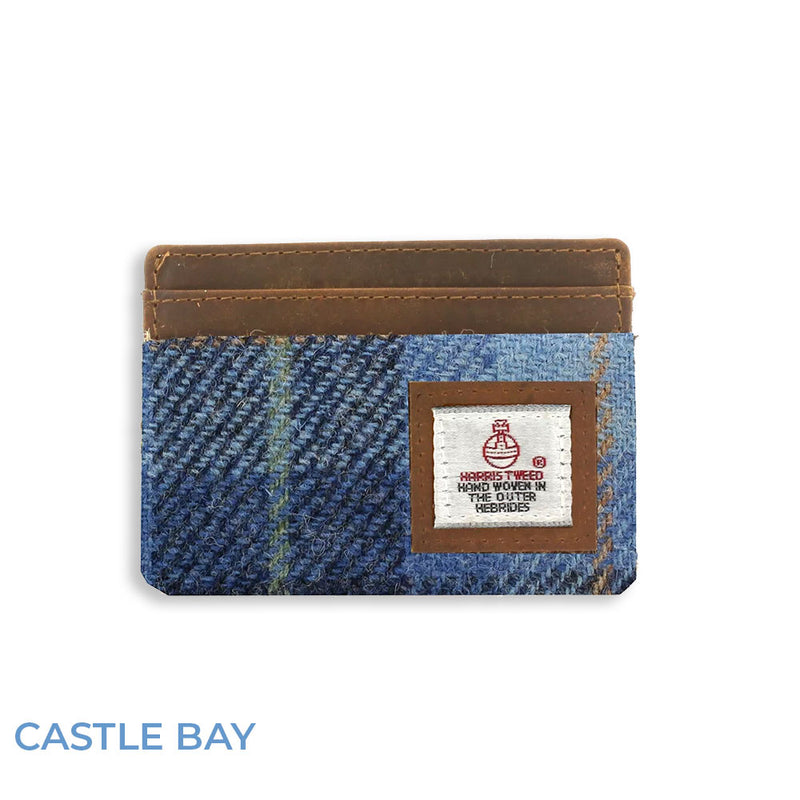 Castle Bay Blue British Bag Co. Harris Tweed Card Holder
