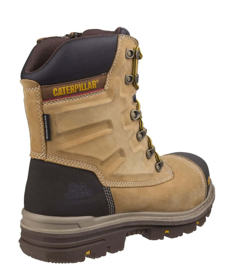 Back Gold Caterpillar Premier Waterproof S3 Safety Boot