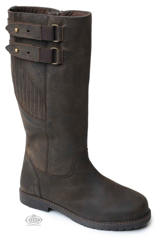 CATESBY HIGH LEG waterproof leather man's riding boot in brown