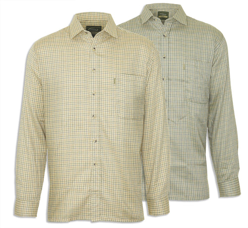 Mens Champion Country Check Long Sleeve Cartmel Fleece Lined Shirt Hunting