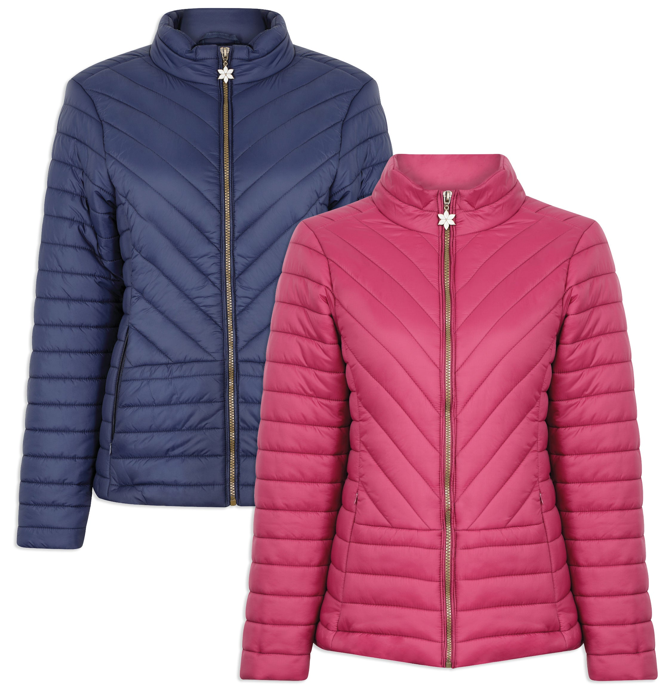 Champion Frimley Baffle Quilted Jacket | Navy, Raspberry