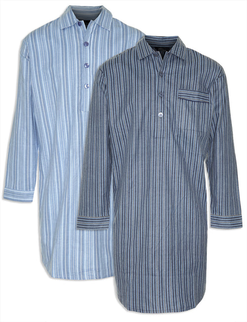 Champion Harrow All Cotton Nightshirt navy and light blue
