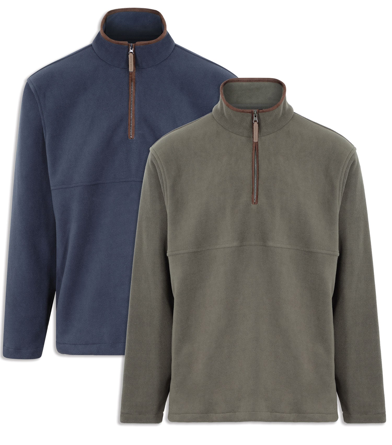 Champion Oban Half Zip Fleece | Olive and Navy